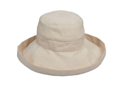 Linen (Tan) Cotton Brim Hat