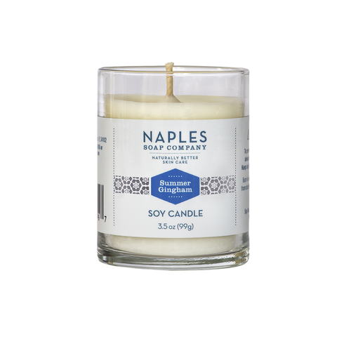 Summer Gingham Scented Votive Candle