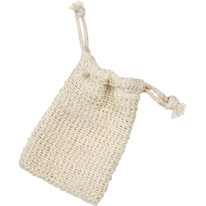 Drawstring Sisal Soap Sack