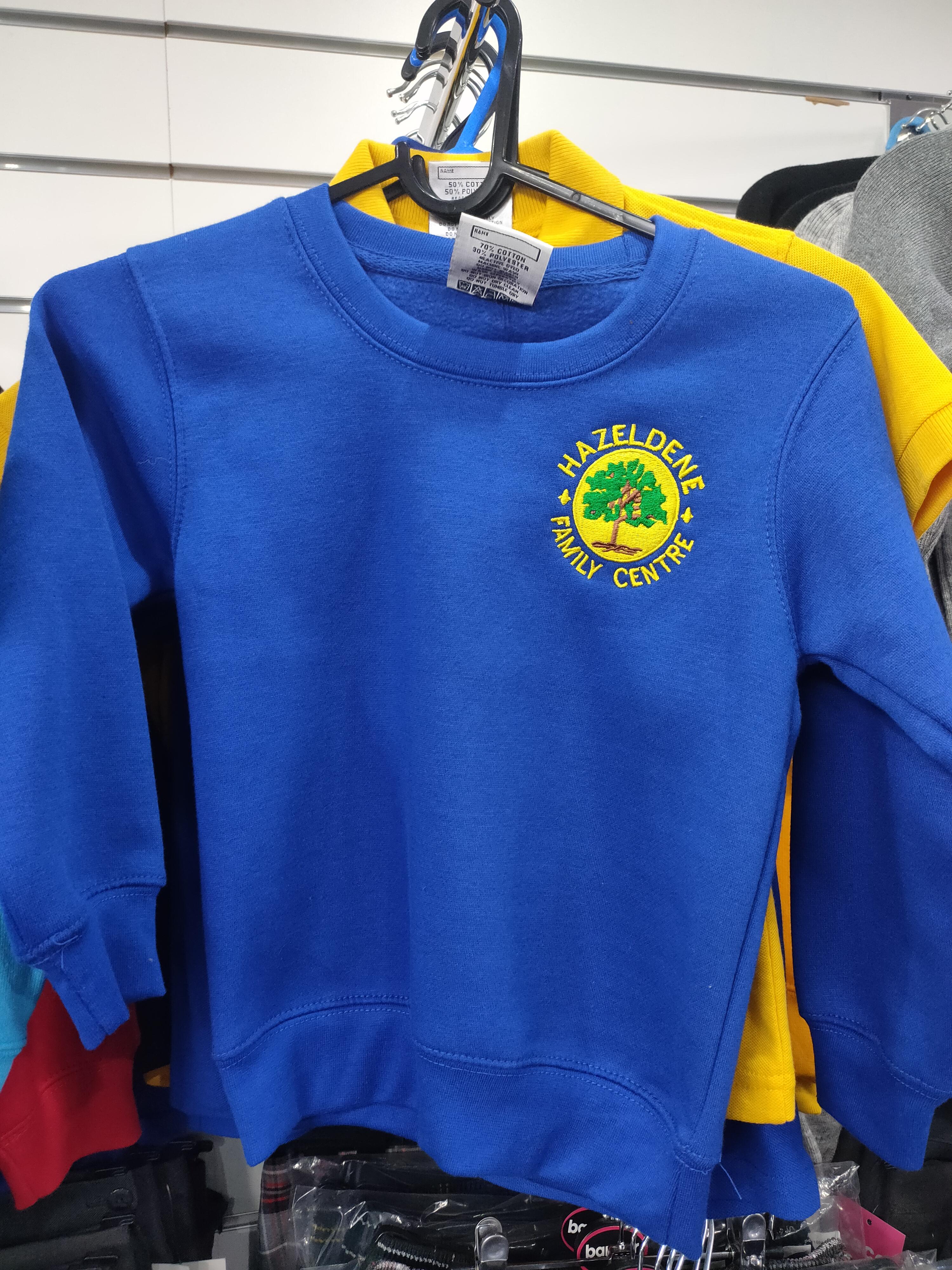 Hazeldene Family Centre Round Neck Sweatshirt (Royal Blue)