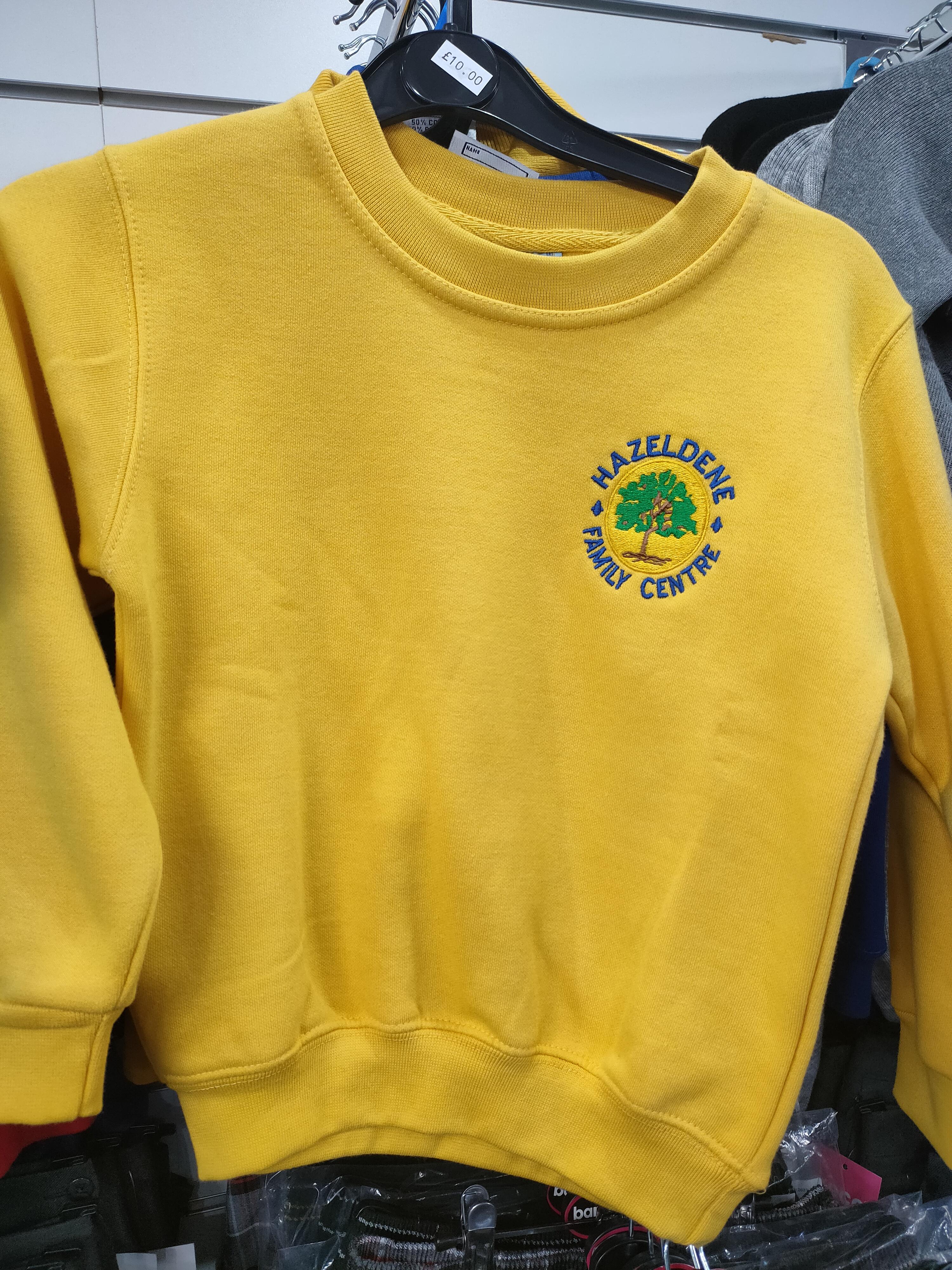 Hazeldene Family Centre Round Neck Sweatshirt (Gold)