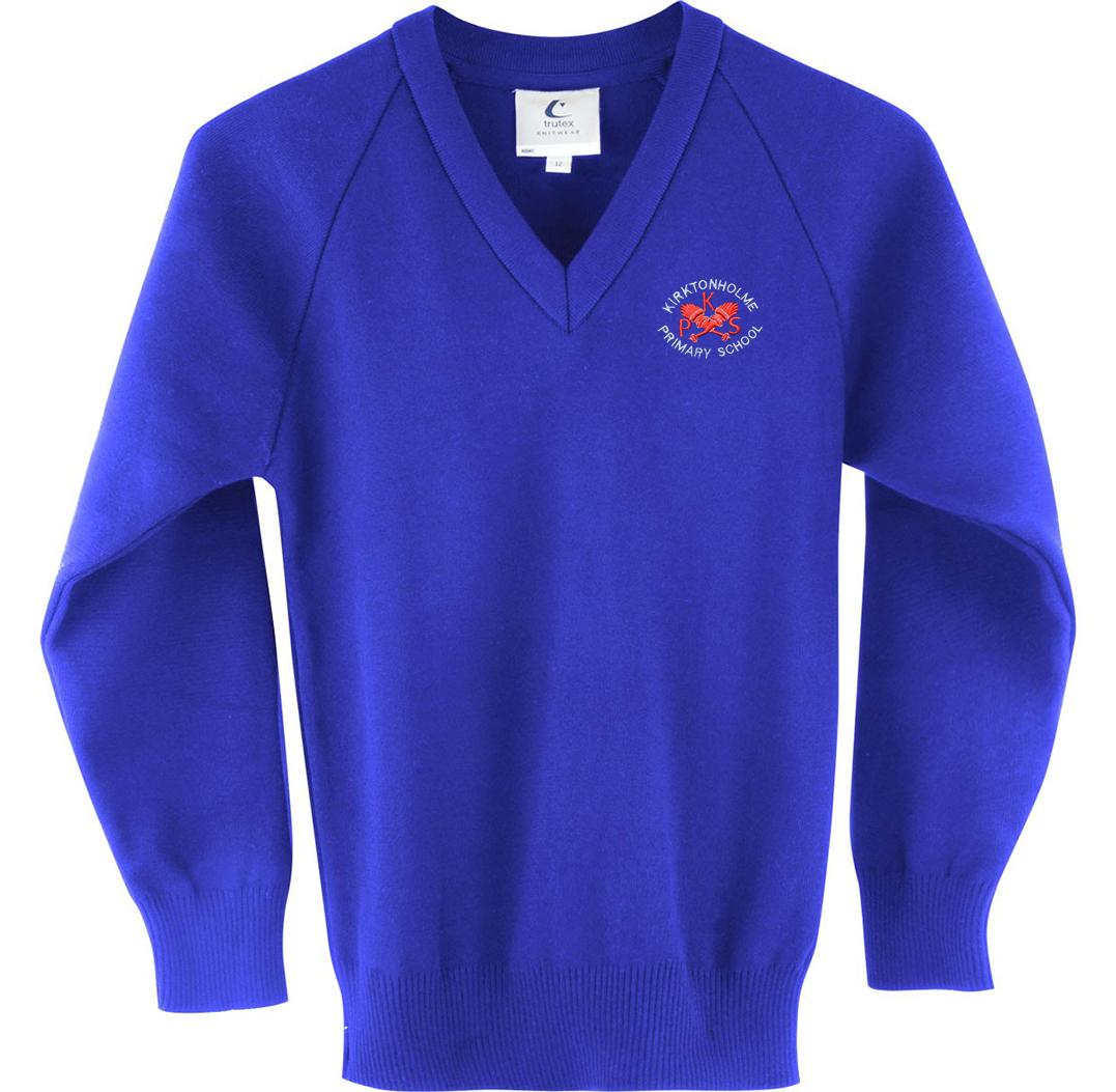 Kirktonholme Primary Knitted V Neck Jumper