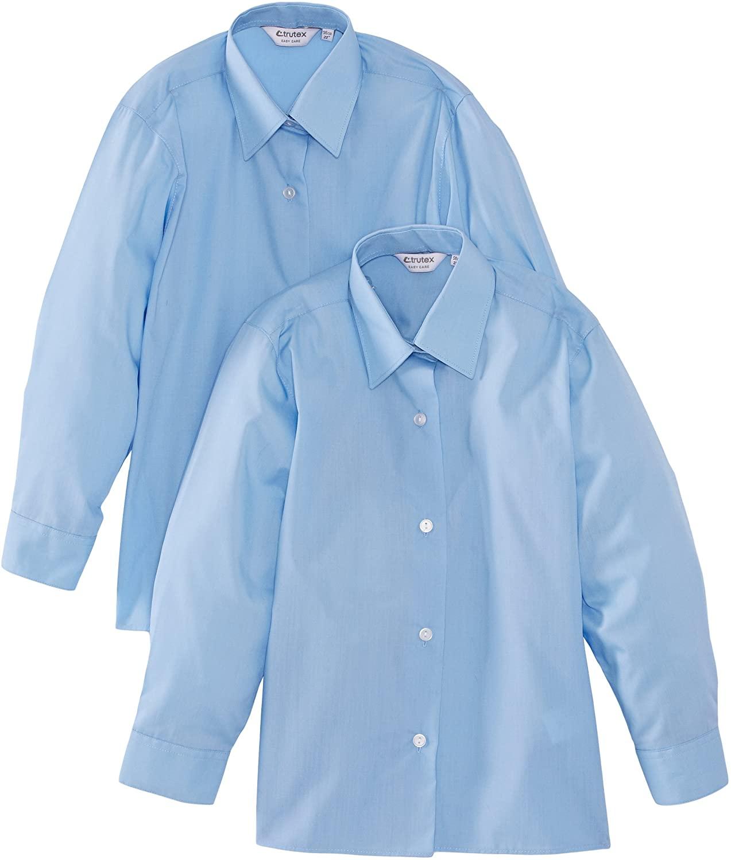 Girls Blue Blouses (Long Sleeved) 2 - Pack