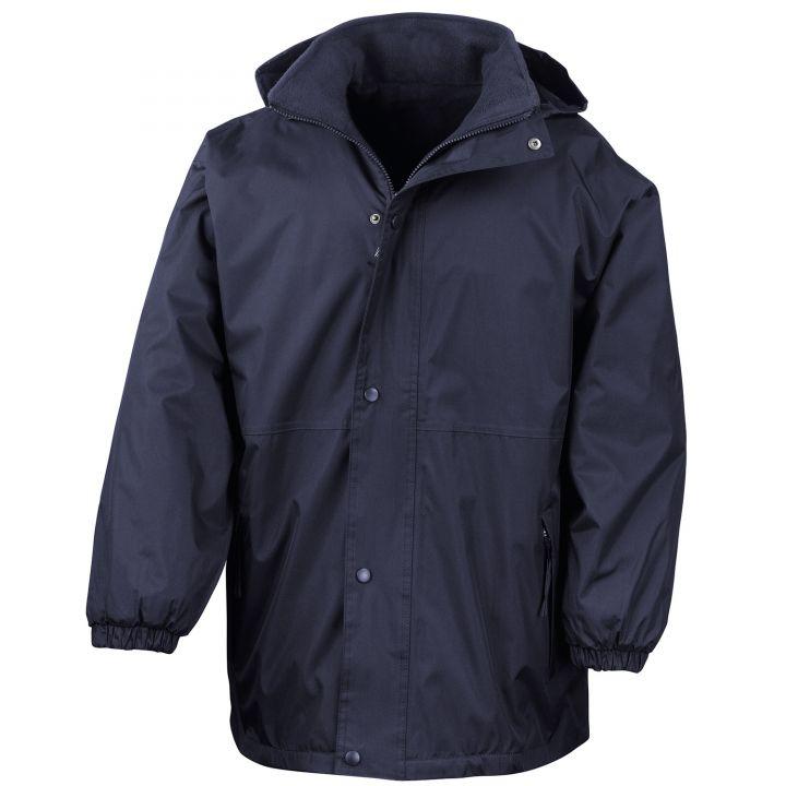 Eaglesham Primary School Heavy Duty Waterproof Reversible Fleece Lined Jacket (Navy)