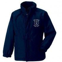 Cross Arthurlie Primary School Heavy Duty Waterproof Reversible Fleece Lined Jacket (Navy)