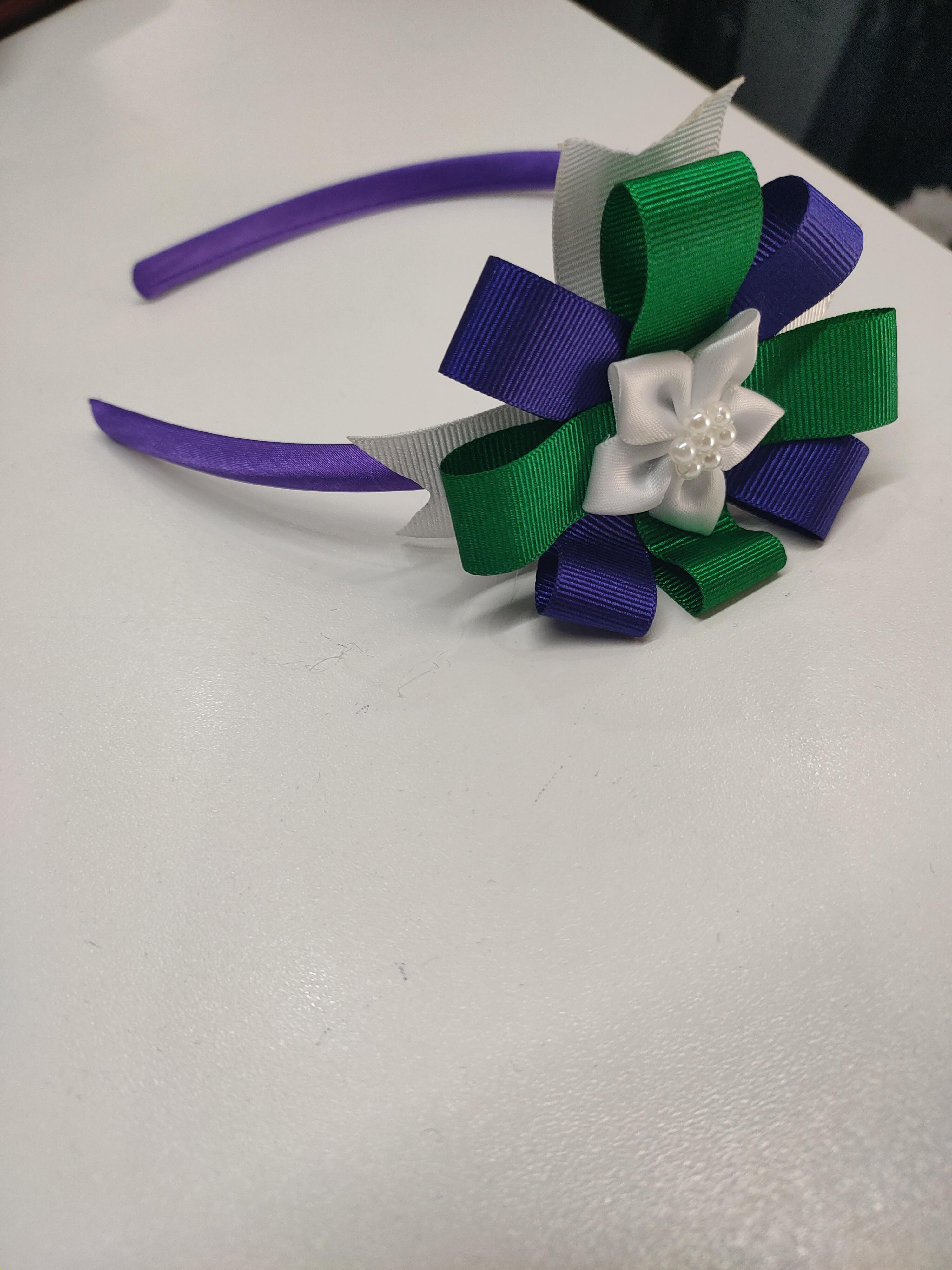 Purple Hairband with Flower
