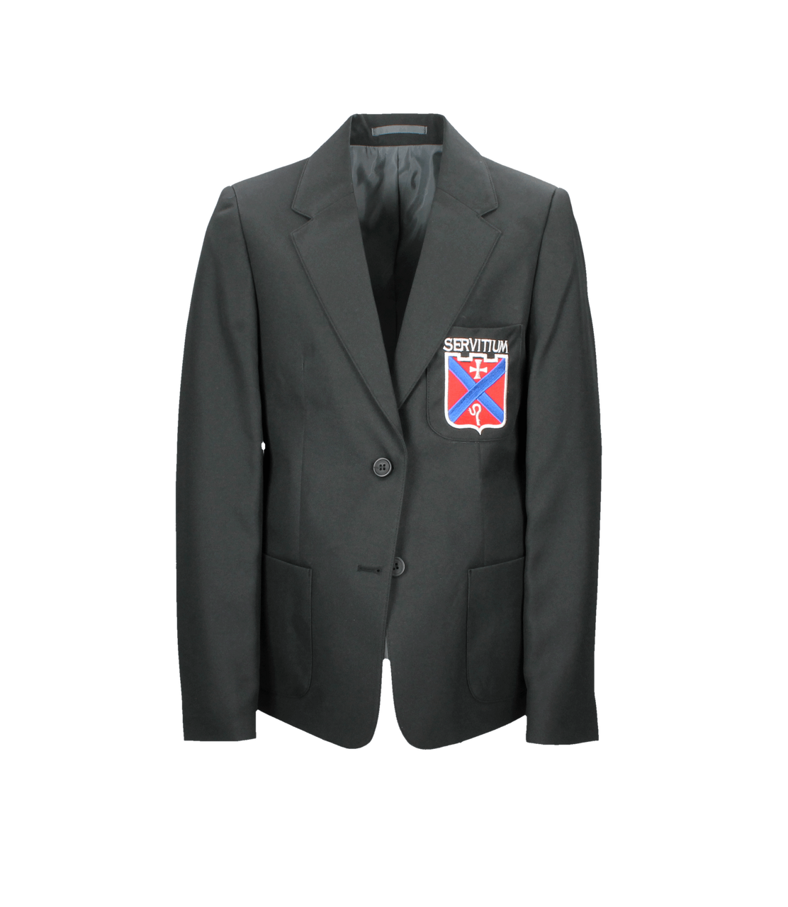 Mearns Castle High School Fitted Black Polyester Blazer (Girls)