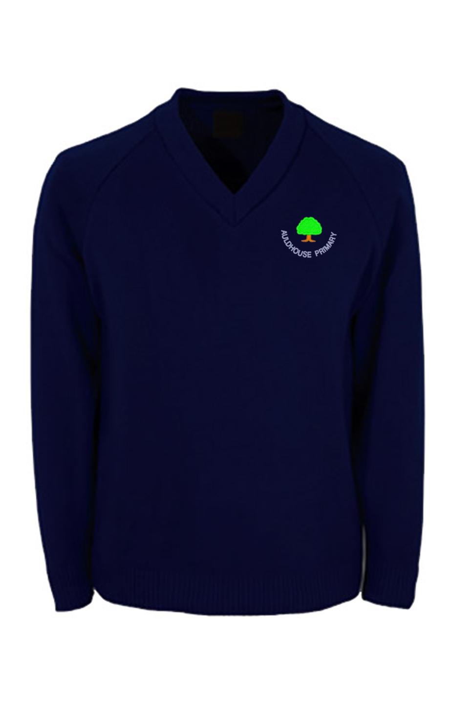 Auldhouse Primary Knitted V Neck Jumper