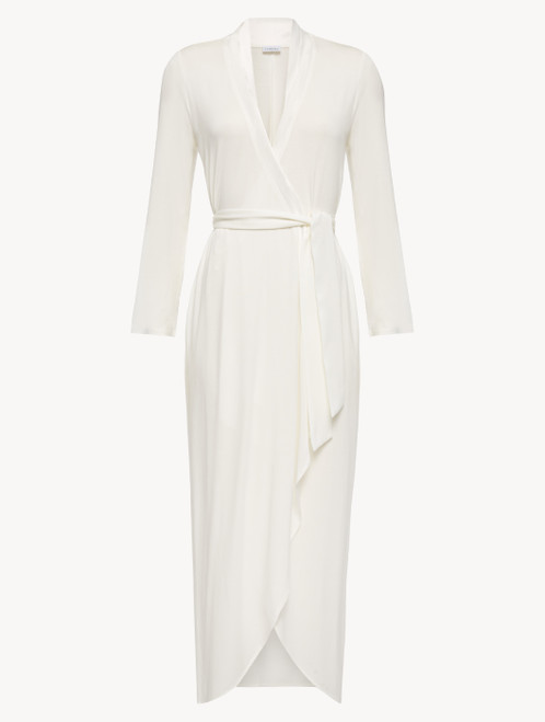 Robe in white modal jersey
