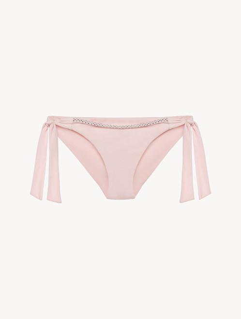 Ribbon Bikini Briefs in rose pink