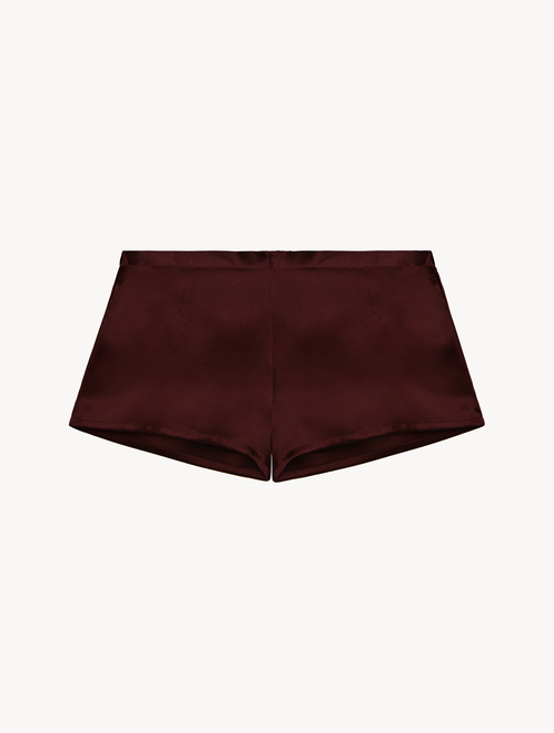 Bordeaux silk pyjama shorts