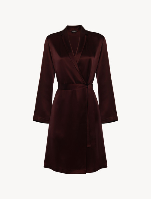 Bordeaux silk short robe