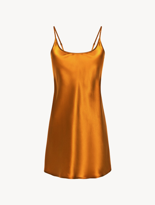 Topaz yellow silk slip