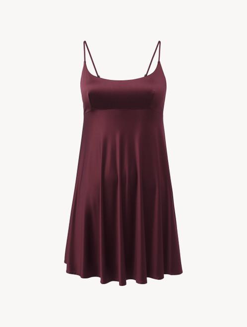 Slip Dress in burgundy stretch viscose