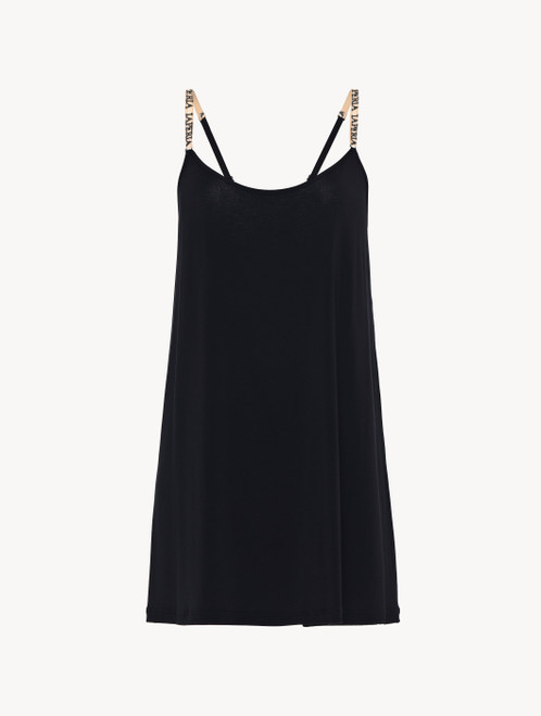Slip Dress in black modal silk jersey