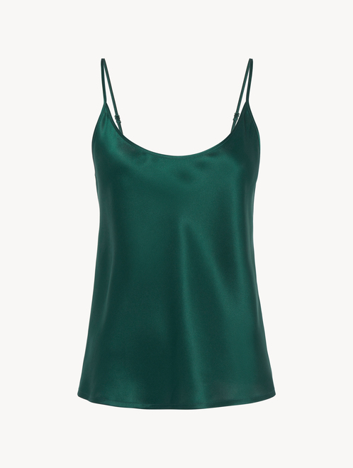 Silk camisole in emerald - ONLINE EXCLUSIVE