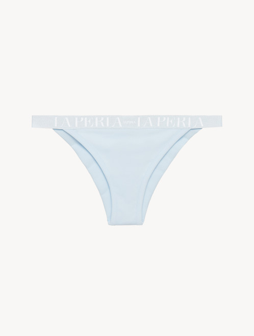 Brazilian brief in blue grey stretch cotton