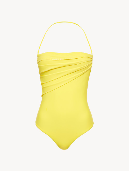 Yellow underwired swimsuit