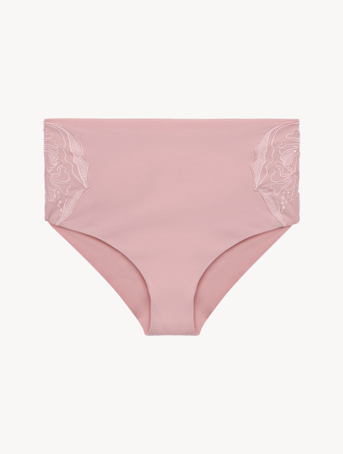 Pink high-waisted briefs