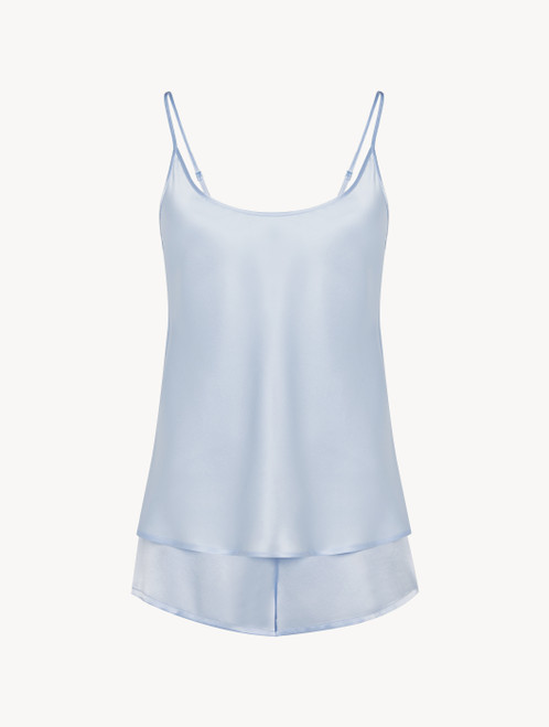 Azure silk short pyjama set