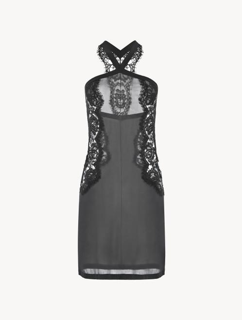 Dark-grey lace short nightgown