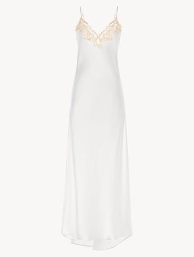 La Perla EL COLOR ROJO Silk Night Gown White 0016748