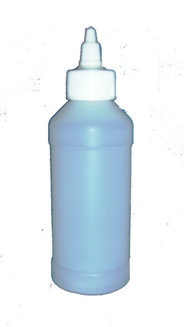 8 Ounce Plastic Fluorinated Bottle with Twist Top
