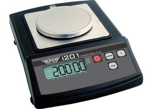 100th gram resolution and eight different weighing modes.  200 gram capacity x 0.01 gram resolution
