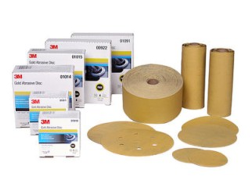 "3M 3"" Hook Discs, 400 g - 50 ct. Gold"