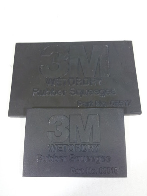 3M Wet or Dry, Black, Rubber Squeegee