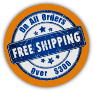 Free Shipping on all orders over $300