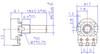 Technical drawing datasheet for solder lug smooth shaft pot
