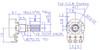 Technical drawing for 16mm potentiometer - Knurled Shaft - Solder Lug