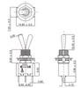 Datasheet for SPDT On Off On Switch - Solder Lugs - Long Shaft