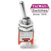 Taiway brand toggle 200-MSP1-T1B1M2QE - SUBMINI - SPDT - ON ON - LONG SHAFT - PCB PIN-
