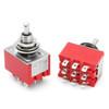 3PDT On Off On Switch - Solder Lugs - short Shaft