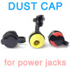 Dust caps shown on switched 2.1mm DC power jacks