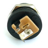 """Side view of switched 2.1mm DC power jack - """"outtie"""" style"""
