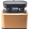 9V battery snap with T style attachment and no collar, shown on battery