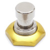 Yellow / Gold anodized aluminum 3PDT foot switch nut