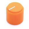 """Danger orange Brutalist knob for 1/4"""" shaft"""