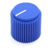 """Blue Brutalist knob for 1/4"""" shaft"""