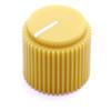 "Mustard yellow Brutalist knob for 1/4"" shaft"