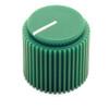 """Green Brutalist knob for 1/4"""" shaft"""