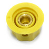 "View of 1/4"" shaft for yellow Dunlop MXR Large Clone Knob with Set Screw"