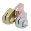 """""""Heavy Metal"""" metallic painted Davies 1510 clone knobs in gold, silver, and rose gold"""