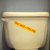 Make Things Make Noise Sticker on a toilet bowl