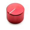 """Red anodized aluminum knob for 1/4"""" smooth shaft potentiometers - 20mm diameter"""