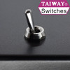 Taiway dress nut shown with long bat actuator toggle switch