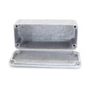 Inside view with backplate - 1590A enclosure aluminum finish Hammond clone for mods guitar effects pedals